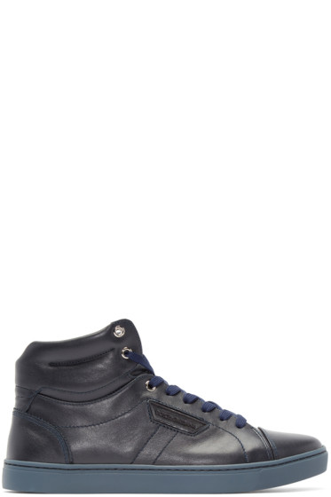 Dolce & Gabbana - Navy London High-Top Sneakers