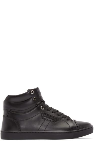 Dolce & Gabbana - Black London High-Top Sneakers