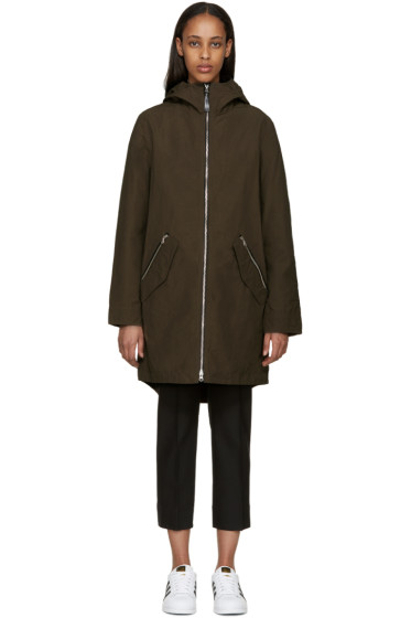 Mackage - Khaki Waxed Cotton Sonya Coat