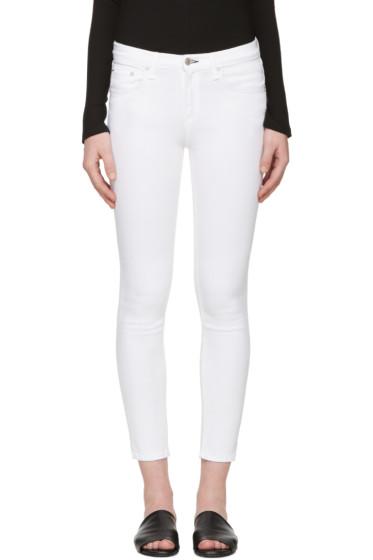 Rag & Bone - White Skinny Capri Jeans