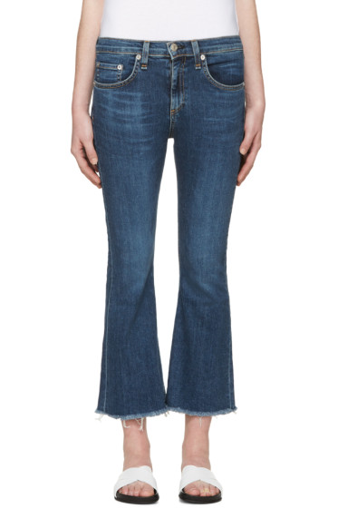 Rag & Bone - Indigo Frayed Flare Jeans