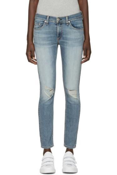 Rag & Bone - Blue Skinny Capri Jeans