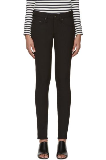 Rag & Bone - Black Skinny Equestrian Jeans