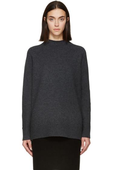 Rag & Bone - Grey Wool Mock Neck Sienna Sweater