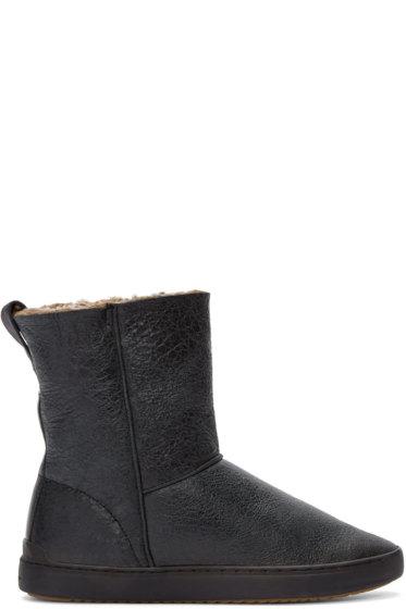 Rag & Bone - Black Shearling Kali Boots