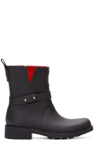 Rag & Bone - Black Biker Rain Boots