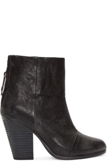 Rag & Bone - Black Leather Classic Newbury Boots