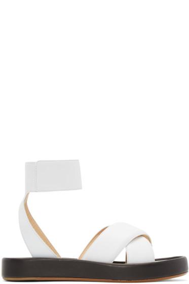Rag & Bone - White Leather Venus Sandals
