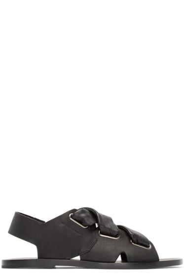 Rag & Bone - Black Cross Straps Sandals