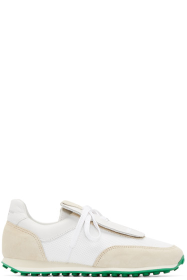 Rag & Bone - White Leather & Suede Sneakers