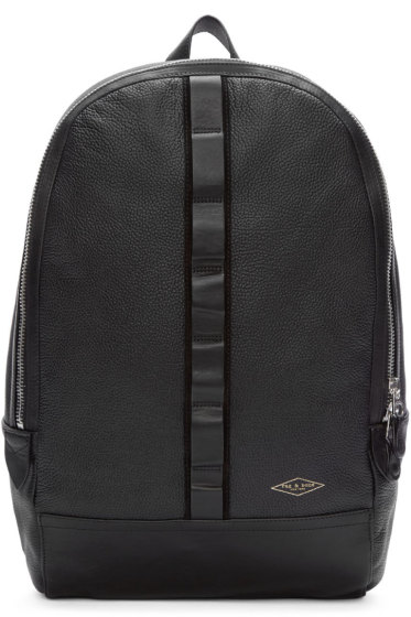 Rag & Bone - Black Leather Derby Backpack