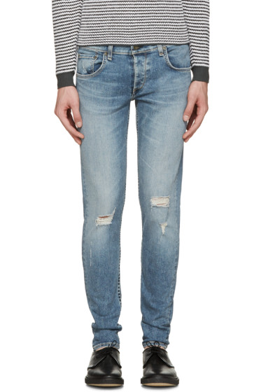 Rag & Bone - Blue Distressed Standard Issue Fit 1 Jeans
