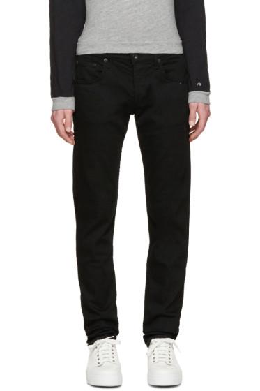 Rag & Bone - SSENSE Exclusive Black Distressed Fit 1 Jeans
