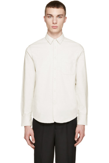 Rag & Bone - Cream Flannel 3/4 Placket Shirt