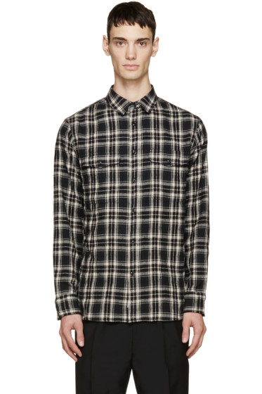 Rag & Bone - Black & Cream Plaid Jack Shirt