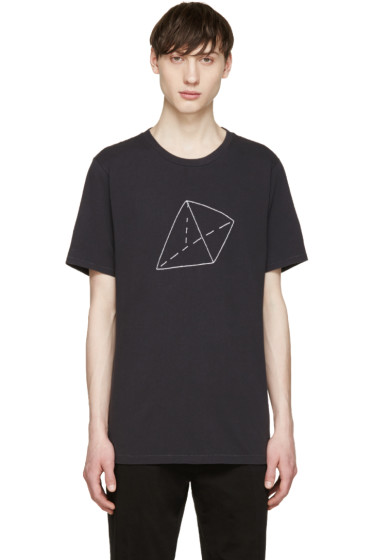 Rag & Bone - Black Embroidered Pyramid T-Shirt