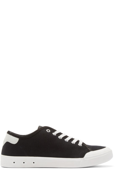 Rag & Bone - Black Standard Issue Low-Top Sneakers