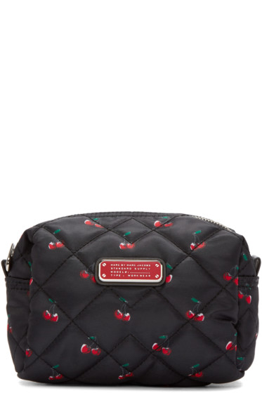 Marc by Marc Jacobs - Black Printed Large Crosby Cosmetics Case