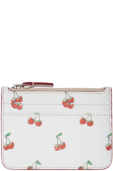 Marc by Marc Jacobs - White Cherry Print Lina Card Holder