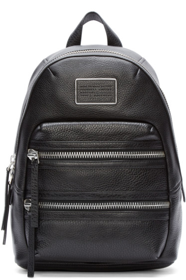 Marc by Marc Jacobs - Black Leather Domo Biker Backpack