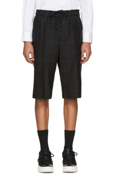 Public School - Black Check Harbin Shorts