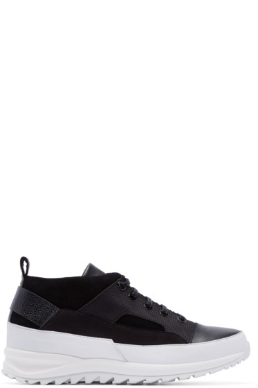 Public School - Black Hiker Mid-Top Sneakers