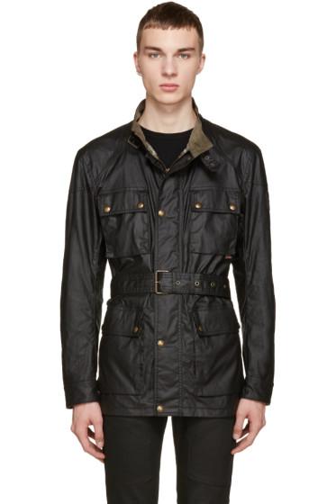 Belstaff - Black Waxed Cotton Road Master Jacket