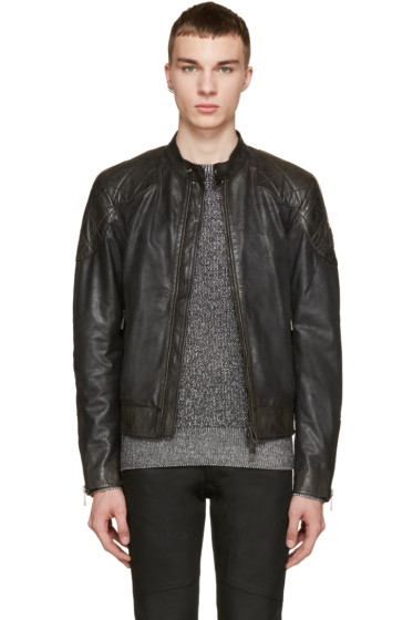 Belstaff - Black Waxed Leather Outlaw Jacket