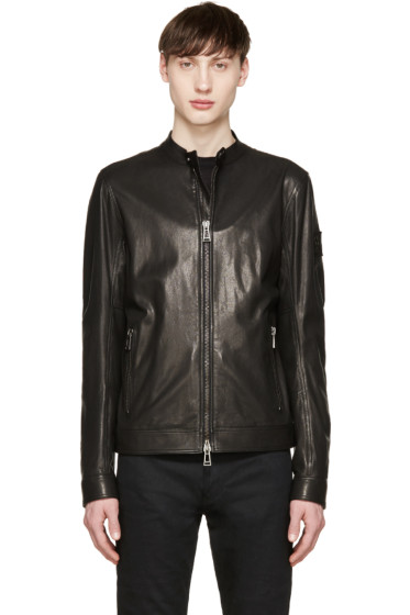 Belstaff - Black Leather Gransden Biker Jacket