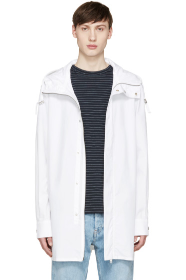 Diesel Black Gold - White Poplin Coat