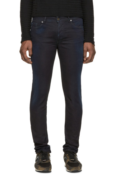 Diesel Black Gold - Navy Distressed Skinny Jeans