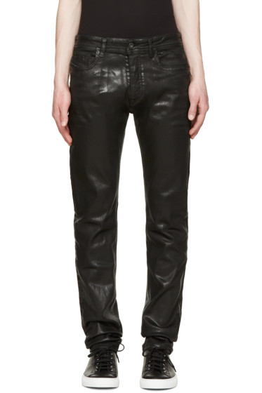 Diesel Black Gold - Black Coated Skinny Jeans