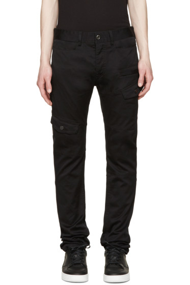 Diesel Black Gold - Black Cotton Cargo Pants