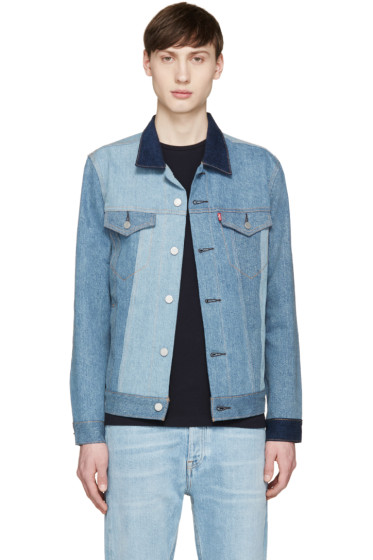 Levi's - Blue Denim Patchworked Trucker Jacket
