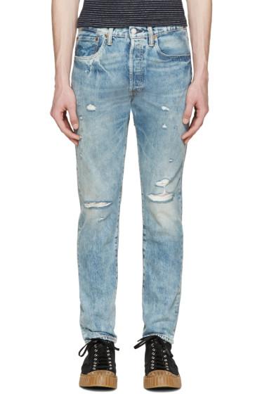 Levi's - Blue Distressed 501 CT Jeans