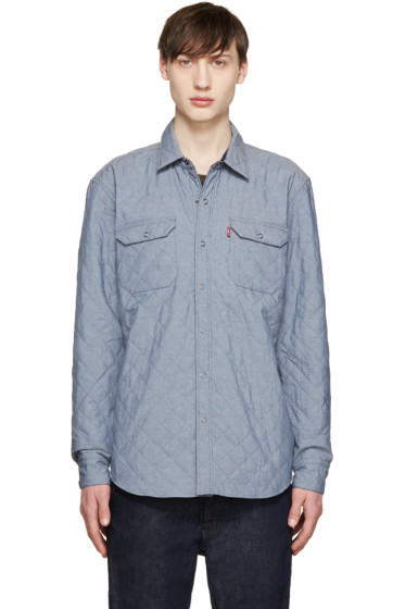 Levi's - Blue Reversible Quilted Shirt