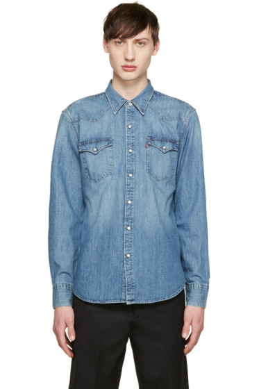 Levi's - Blue Denim Western Barstow Shirt