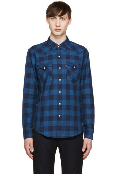 Levi's - Blue Check Western Barstow Shirt
