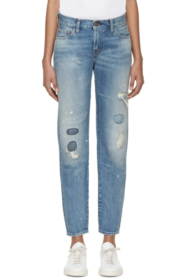 Levi's Vintage Clothing - Blue 1967 Customized 505 Jeans