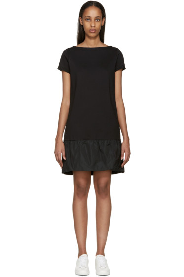 Moncler - Black French Terry Dress