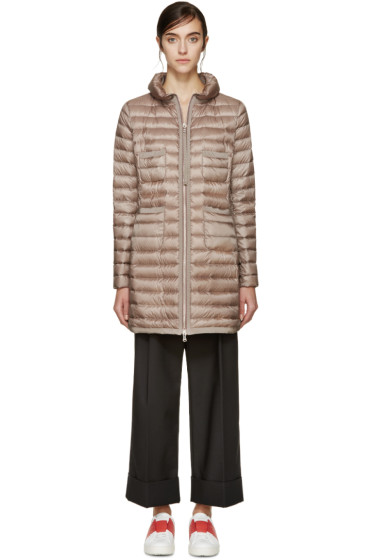 Moncler - Taupe Down Bogue Jacket