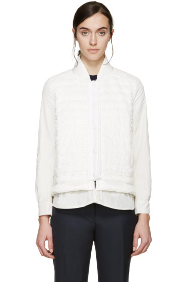 Moncler - White Quilted Down Jacket