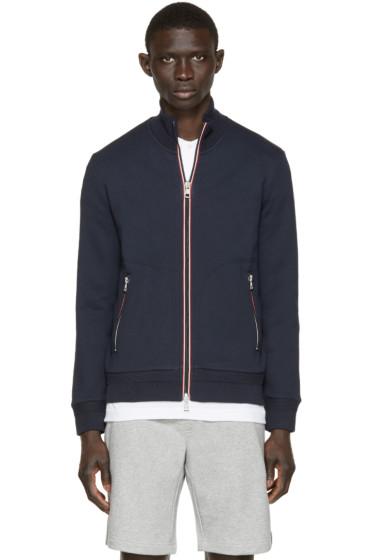 Moncler - Navy Zip-Up Sweater