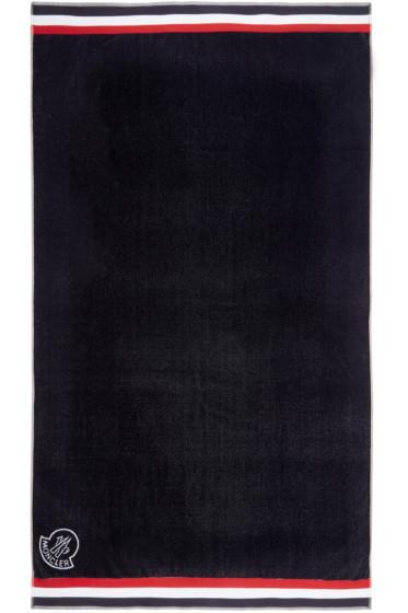 Moncler - Navy & Tricolor Logo Towel