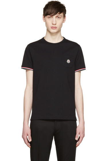 Moncler - Black Pocket T-Shirt