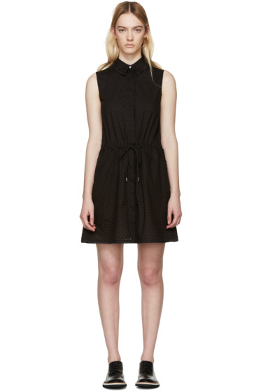 McQ Alexander Mcqueen - Black Drawstring Shirt Dress