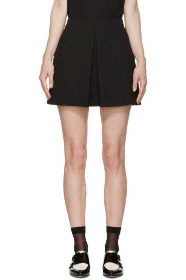 McQ Alexander Mcqueen - Black Pleated Miniskirt