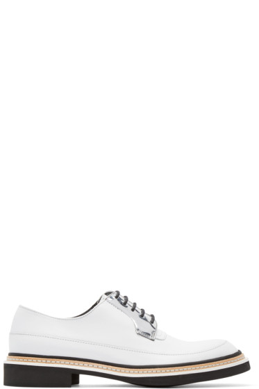 McQ Alexander Mcqueen - White Leather Columbia Derbys