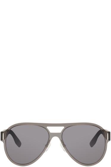 McQ Alexander Mcqueen - Black Translucent Aviator Sunglasses