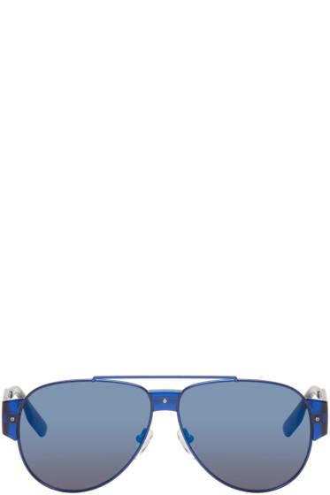 McQ Alexander Mcqueen - Blue Aviator Sunglasses